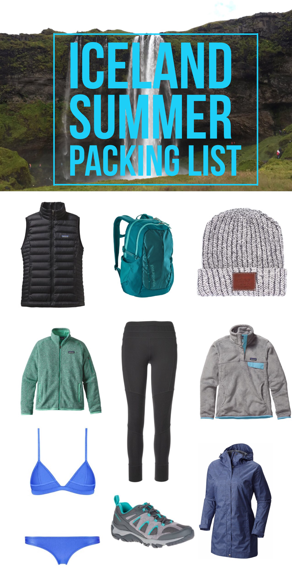 Iceland Packing List: Summer